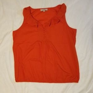 Ann Taylor Loft Sleeveless Top Size XL Orange